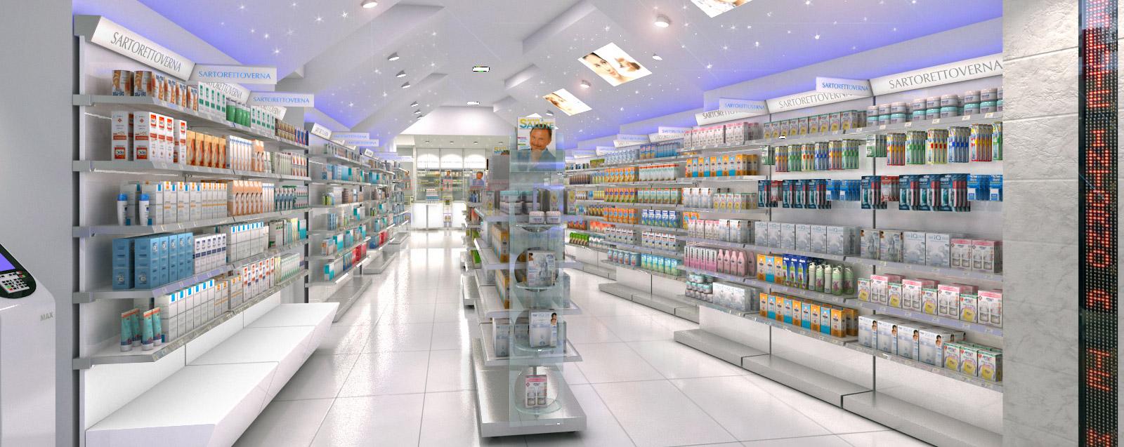 Arredamenti per catene di farmacie sv for pharmacy chain for Catene arredamento