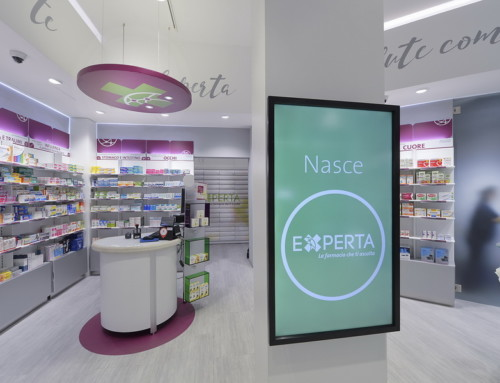 Experta has chosen ®Easy chain, the smart eco-friendly display system by Sartoretto Verna™ for their first flagship store in Turin.